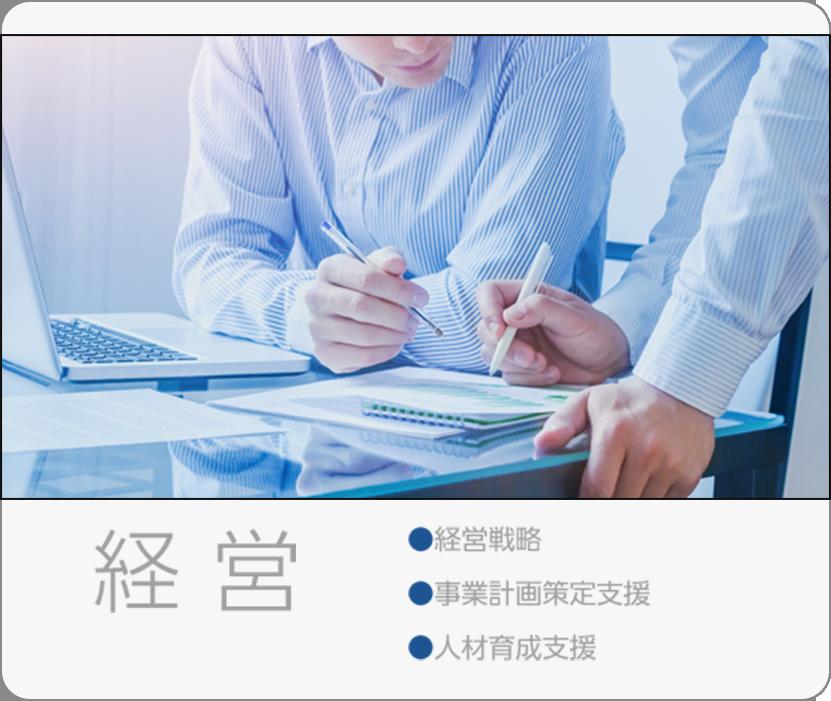 経営:経営戦略、事業計画策定支援、人材育成支援